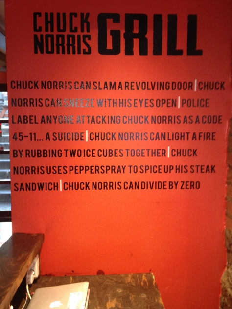 Wall at Chuck Norris Grill