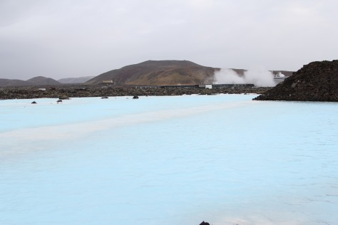 The Blue Lagoon's heated by geothermal pools deep below the earths crust.